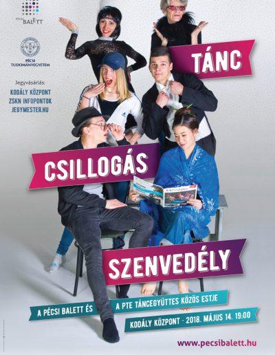 Tánc, csillogás, szenvedély // Pécsi Balett, PTE Táncoló Egyetem, 2018.