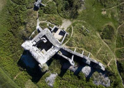 Balaton-felvidék Csobánc vára drónfotó