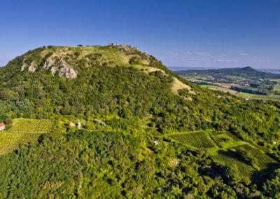 Balaton-felvidék Csobánc drónfotó