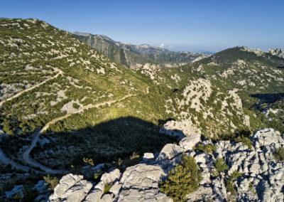 Az út a Velik Rujno fennsíkra
