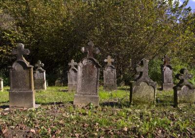 Régi temető a Zselicben
