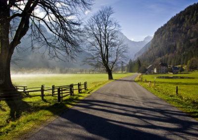 A Logarska dolina bejárata