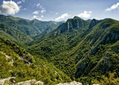 A Mala Paklenica völgy felső harmada