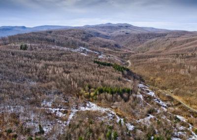 A Duboka-völgy, szemben a főgerinc