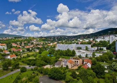 Pécs, Rókus-domb, drónfotó