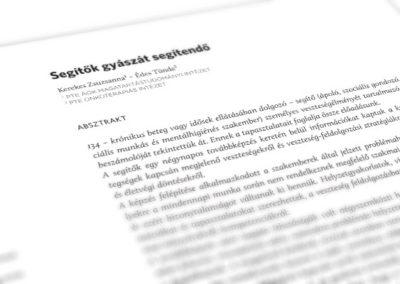 Egészségrehabilitációs füzetek // tipográfia