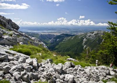 A Buljma hágó pereméről nagyszeráen látszik a Paklenica kanyon, National park Paklenica, Velebit, Croatia