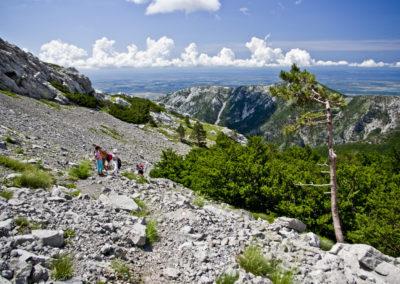 A Buljma hágó felső szakasza, National park Paklenica, Velebit, Croatia