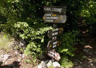 A Paklenica Nemzeti Park területe jól táblázott
