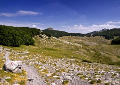 Felérve a Buljma hágóra, National park Paklenica, Velebit, Croatia