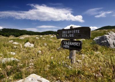 A szakasz táblázása remek, National park Paklenica, Velebit, Croatia