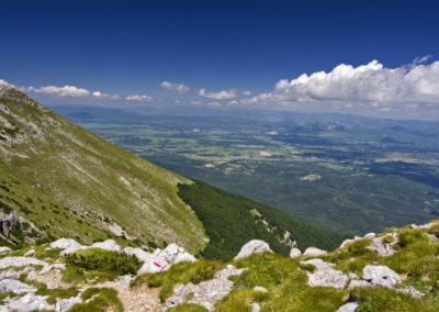 A Sveto brdo meredek északi oldala