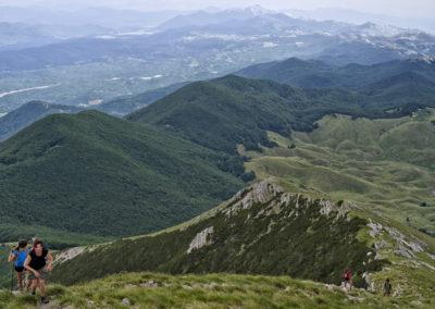 Az út a Sveto brdo-ra, a Velebit második legmagasabb csúcsára