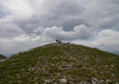 A vihar hamar lecsapott a Sveto brdo kúpjára, Sveto brdo, National park Paklenica, Velebit, Croatia