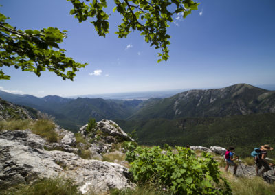 Felfelé a szerpentinen, National park Paklenica, Velebit, Croatia