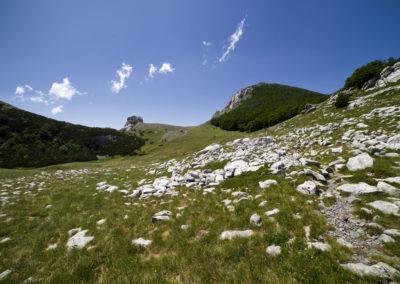 Mögöttünk a Bulmja-hágó, National park Paklenica, Velebit, Croatia