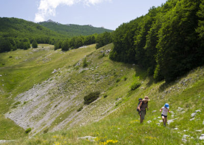 A dolina oldalában kanyargó úton, National park Paklenica, Velebit, Croatia
