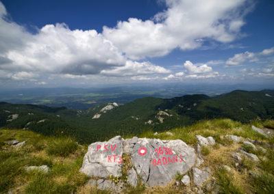 A Badanj csúcsán, National park Paklenica, Velebit, Croatia