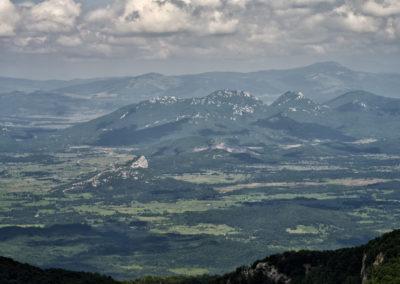 Lička plješivica hegység, National park Paklenica, Velebit, Croatia