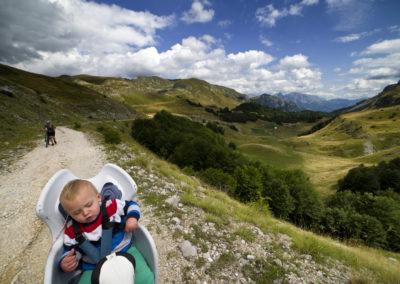Közel a hágóhoz, a Jabuka-völgy tetején, Zelengora, Bosznia-Hercegovina