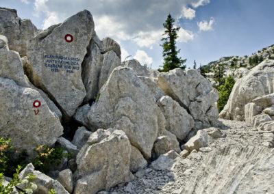 A Premužić emlék-kő, Sjeverni Velebit National Park