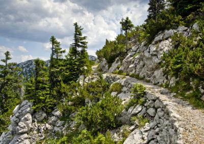 A Gromovaća és a Rossiljeva koliba közti szakasz, Sjeverni Velebit National Park