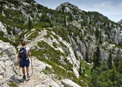 A Rossiljeva koliba utáni szakasz, Sjeverni Velebit National Park