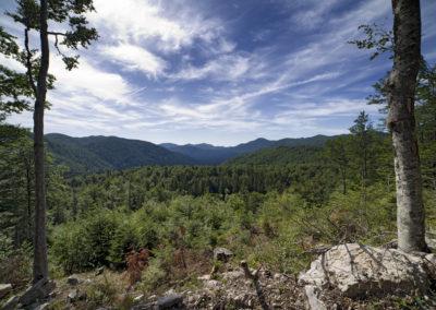 Kilátás a Štirovača-völgy irányába, Sjeverni Velebit National Park