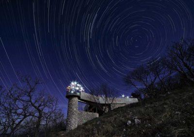 Csillagív a Kis-tubesi kilátó felett, Kis-tubes, Mecsek