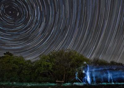 Csillagíves önportré a Kis-Tubesen újholdkor