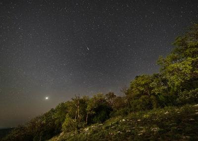 Meteor és a Vénusz a Kis-Tubes felett