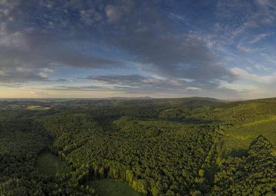 Naplemente a Nyugati-Mecsek felett – Petőcpuszta-Viganvár felett