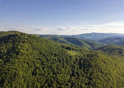 Egy pillantás a délre, balra a Kamengrad, távolban a Psunj-hegység