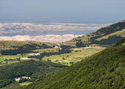 A hágó és Pag a Ljubičko brdo-ról
