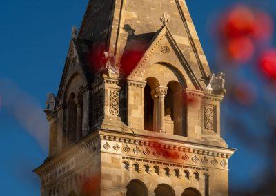 Pécsi Székesegyház piros bogyókkal