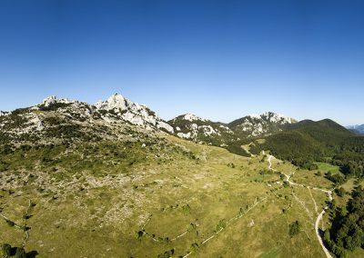 A Kiza, a Grabar és Ljubičko brdo a levegőből