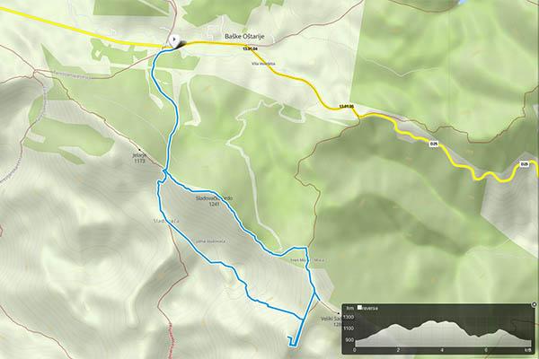 bijele stijene map